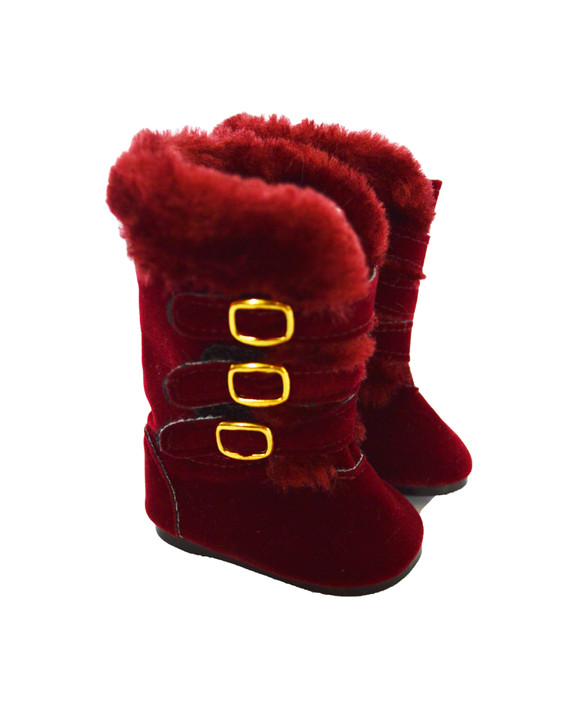 Modern Burgundy Boots Fits American Girl Dolls and My Life as Dolls