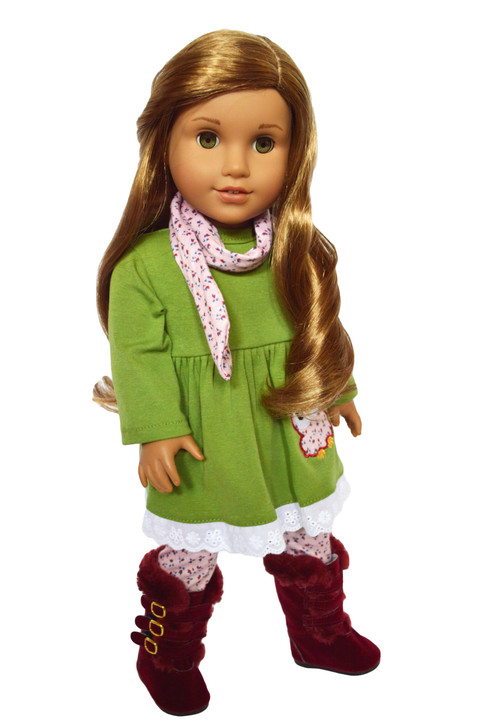 Floral Owl Outfit Fits American Girl Dolls and My Life as Dolls