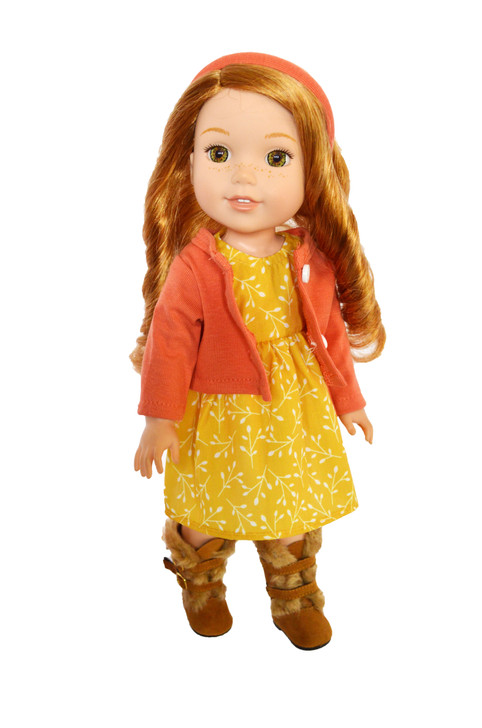 Autumn Breeze Outfit Fits 14 Inch Wellie Wisher Dolls