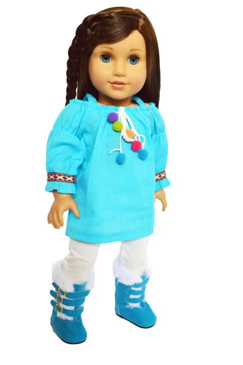 Coming Soon- Blue Baby Doll Outfit Fits American Girl Dolls and My Life as Dolls- 18 Inch Doll Clothes