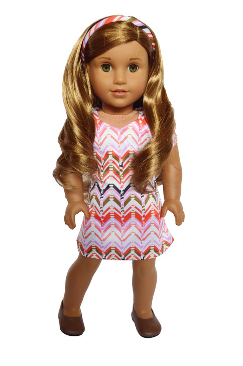 My Brittany's Modern Dress with Headband For American Girl Dolls