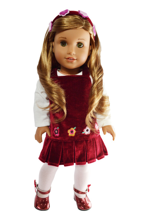 Flower Jumper with Headband Fits American 18 Inch Dolls- Coming Soon