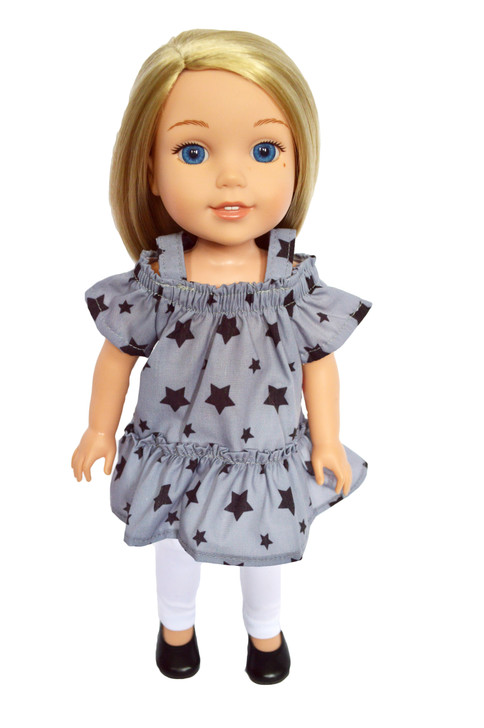 Modern Stars Outfit Fits 14 Inch Wellie Wisher Dolls