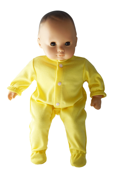 Pastel Yellow Onesis Fits Bitty Baby Dolls-15 Inch Baby Doll Clothes
