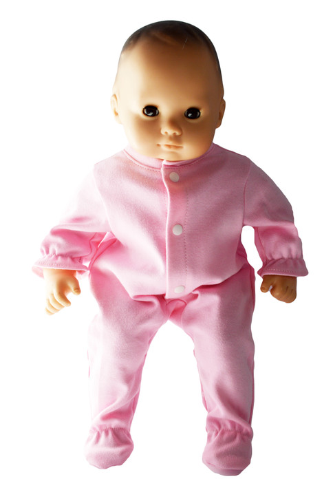 Pastel Pink Baby Onesis Fits 15 Inch Bitty Baby Dolls