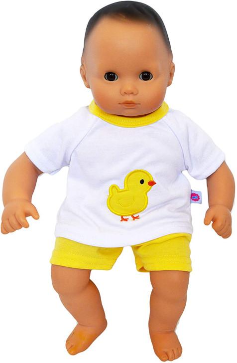Spring Chick Shorts Set Fits Bitty Baby Dolls