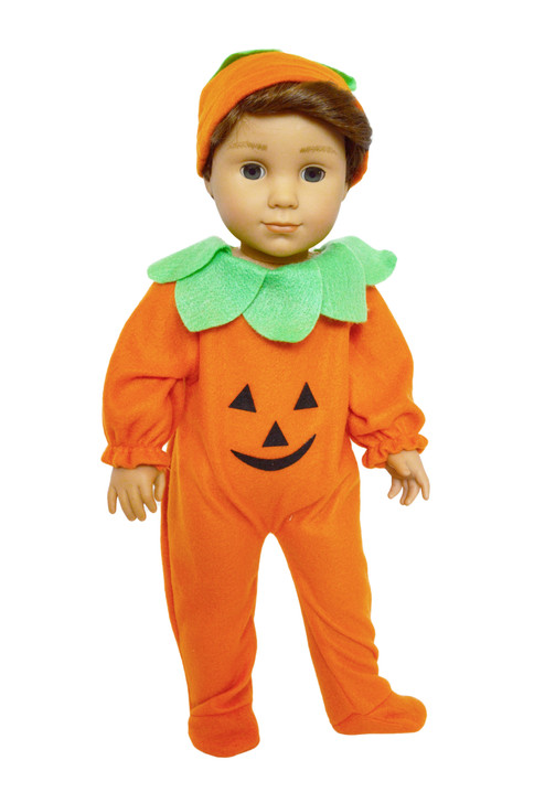 Pumpkin Costume for American Girl Dolls, our Generation Dolls and My Life as Dolls