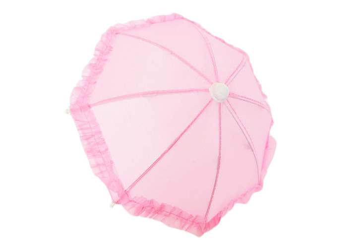 Pink Umbrella Compatible with American Girl Dolls and Wellie Wisher Dolls
