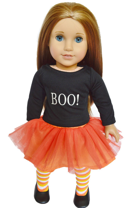 """""""BOO"""" American Girl Doll Halloween Outfit With Shoes"""