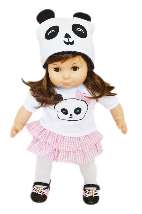 Panda Outfit for Bitty Baby Dolls- 15 Inch Doll Clothes