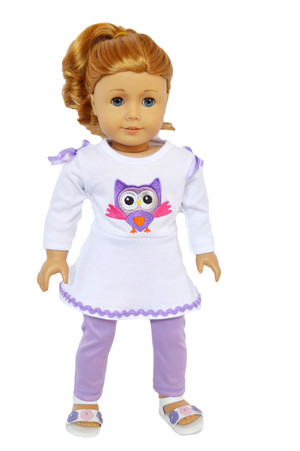 12 Purple Heart Doll Hangers Fits 18 Inch American Girl Doll Clothes