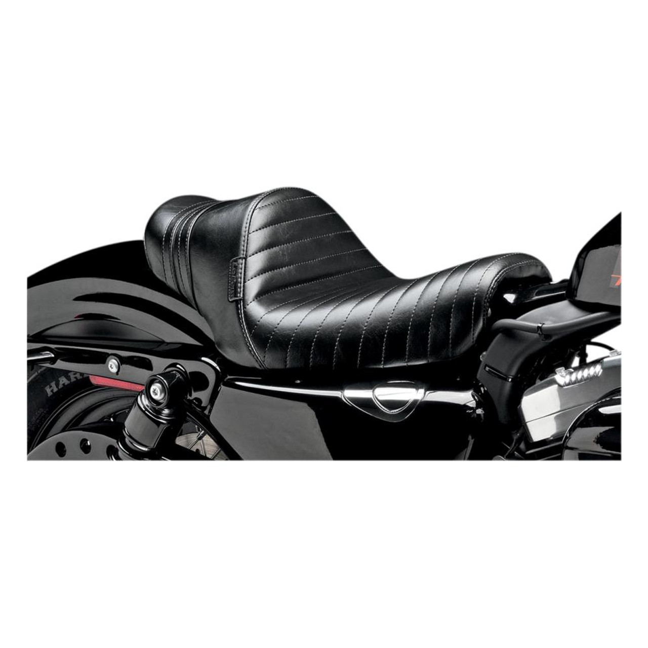 Le Pera Stubs Spoiler Seat Sportster Black/Black 2004-2017 Throttle Addiction