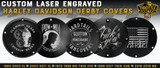 Custom Engraved Harley Davidson Derby Covers and Points Covers