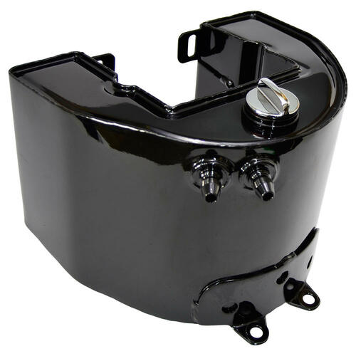 Universal Cycle Harley Panhead Horseshoe Oil Tank - 1958-1964 - Gloss Black
