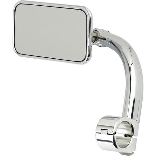 Biltwell Inc Biltwell Utility Mirror Rectangle Clamp-On - 7/8 Chrome