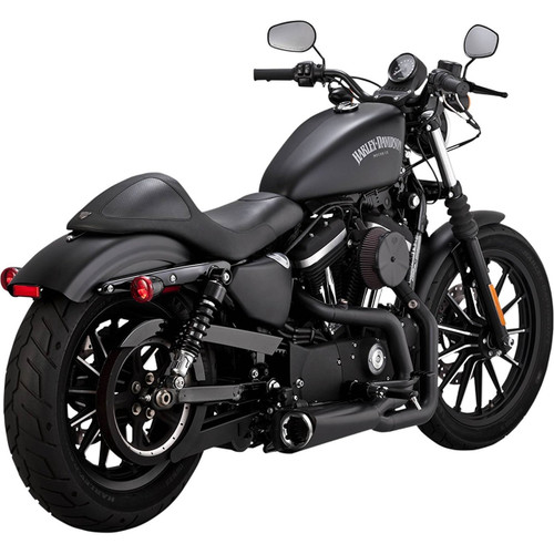 Vance & Hines Competition Series 2-Into-1 Exhaust Sportster Black 2014-2017 Throttle Addiction