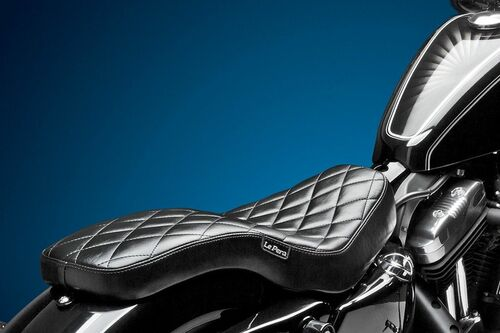 Le Pera Cobra Seat Sportster Diamond 2004-2017 Throttle Addiction