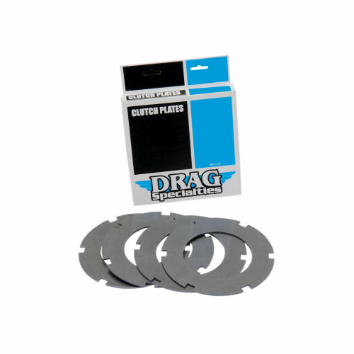 Drag Specialties Drag Specialties - Twin Steel Clutch Plates - Harley Big Twin 1968-1984 - 4 pack