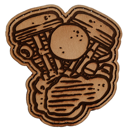 Throttle Addiction Harley Panhead Leather Patch