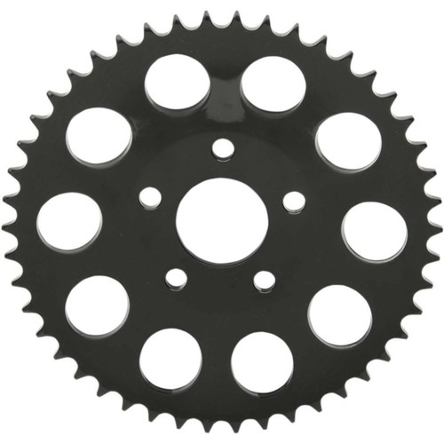 Drag Specialties Dished Rear Sprocket for 1986-1999 Harley Chain Conversion - Gloss Black