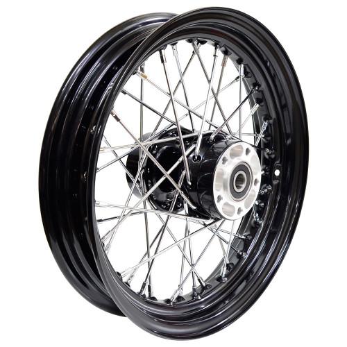 Universal Cycle 16 x 3.00 Black Rear Spoke Wheel - Harley 2000-2007