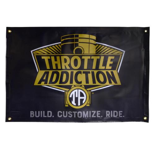 Throttle Addiction Logo Banner 2ftx3ft