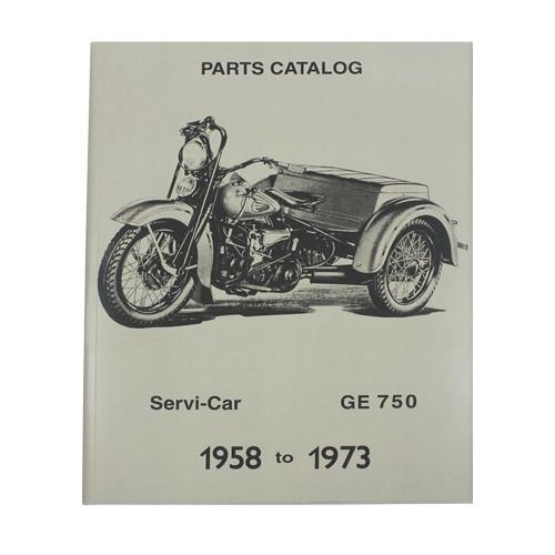 1958-1973 Harley Davidson Servi-Car GE-750 Parts Catalog