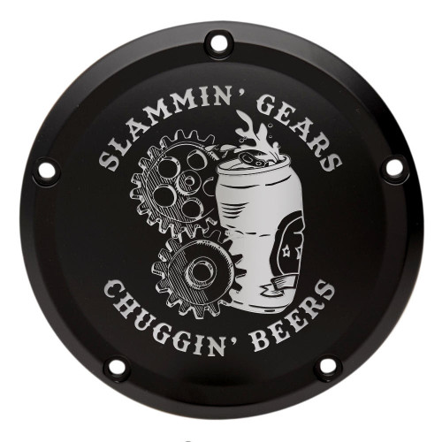 Throttle Addiction Custom Harley Derby Cover Slammin Gears Chuggin Beers