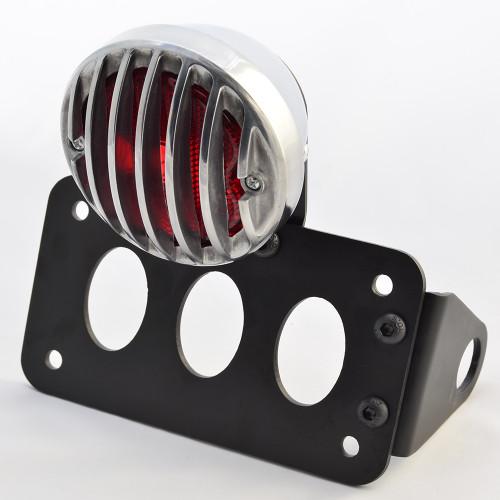 Black Modular License Plate Bracket - Polished Ford Tail Light W/ Grille