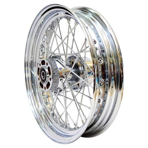 Universal Cycle 16 x 3.00 Chrome Rear Spoke Wheel - Harley 2000-2007