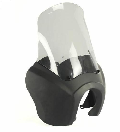 T-Sport Fairing - Matte Black - Clear