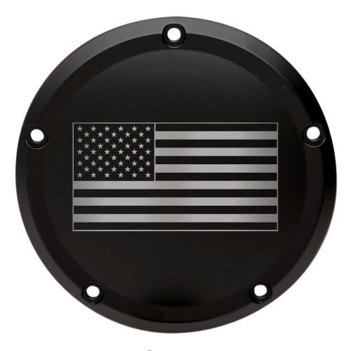 Throttle Addiction Custom Harley Derby Cover American Flag