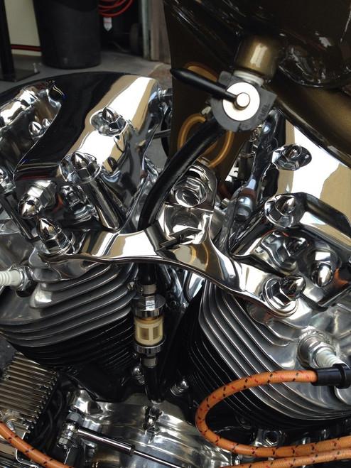 Spruce St. Fabrication - Panhead / Shovelhead Motor Mount - Stainless steel