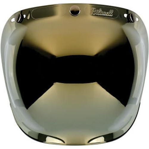 Biltwell - Anti Fog Bubble Shield - Gold Mirror