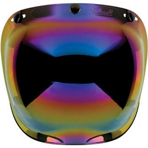 Biltwell - Anti Fog Bubble Shield - Rainbow Mirror
