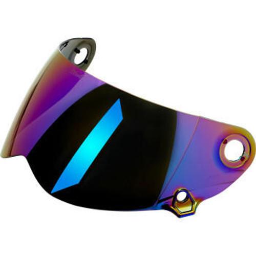 Lane Splitter Helmet Shield Gen 2 - Anti Fog - Rainbow Mirror