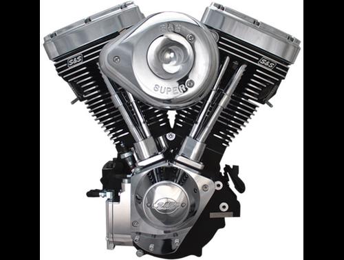 SandS V124 Complete Assembled Engine - Chrome/Wrinkle Black