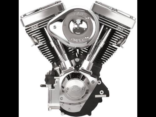 SandS V111 Complete Assembled Engine - Wrinkle Black