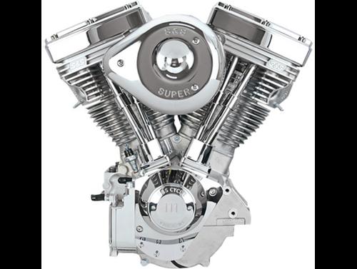 SandS V111 Complete Assembled Engine - Chrome