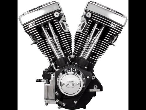 SandS V11 Complete Assembled Long Block Engine - Chrome/Wrinkled Black