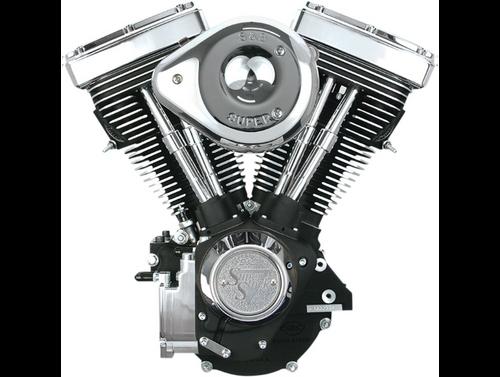 SandS V80 Complete Assembled Engine Chrome/Black