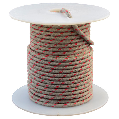 Throttle Addiction 16 AWG Vintage Cloth Covered Wire - Gray with 2 Red Tracers - 10 FT