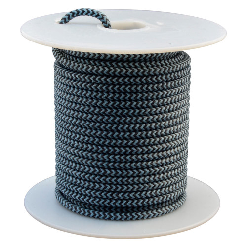Throttle Addiction 16 AWG Lucas Style Vintage Cloth Covered Wire - Black / Blue - 10 FT