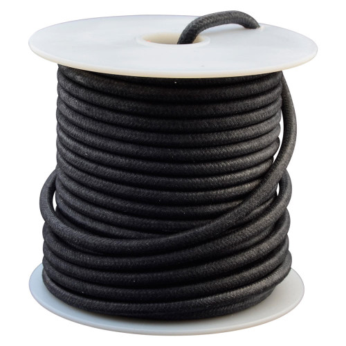Throttle Addiction 12 AWG Vintage Cloth Covered Wire - Black - 10 FT