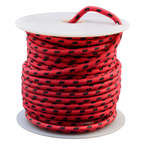 Throttle Addiction 12 AWG Vintage Cloth Covered Wire - Red with 3 Black Tracers - 10 FT