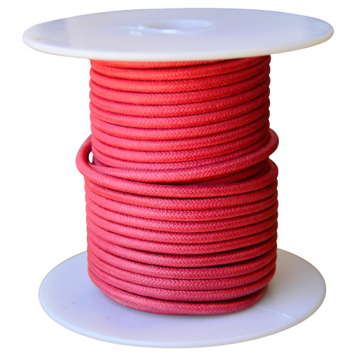 Throttle Addiction 16 AWG Vintage Cloth Covered Motorcycle Wire - Red - 10 FT