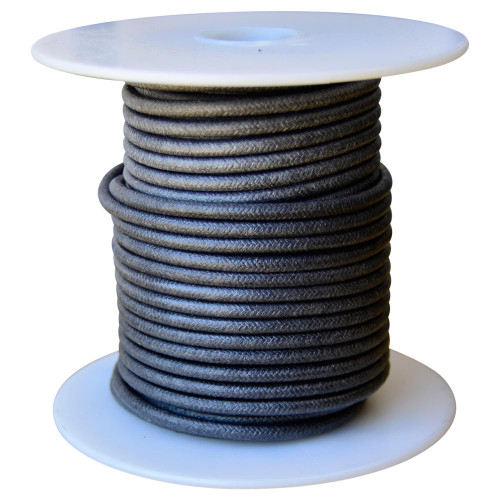 Throttle Addiction 16 AWG Vintage Cloth Covered Motorcycle Wire - Black - 10 FT