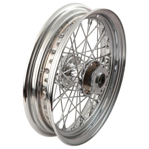 Universal Cycle 16 x 3.00 Chrome Spoke Rear Wheel - Harley 1979-1999