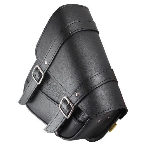 Willie and Max Willie and Max - Black Triangular Hard Tail Saddle Bag - Left Side