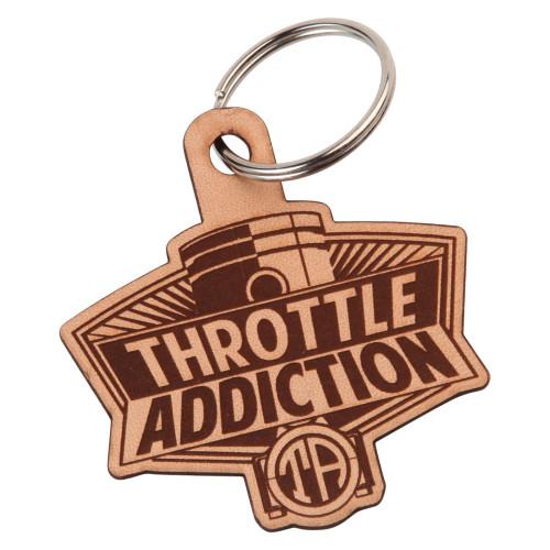 Throttle Addiction Throttle Addiction Leather Key Chain
